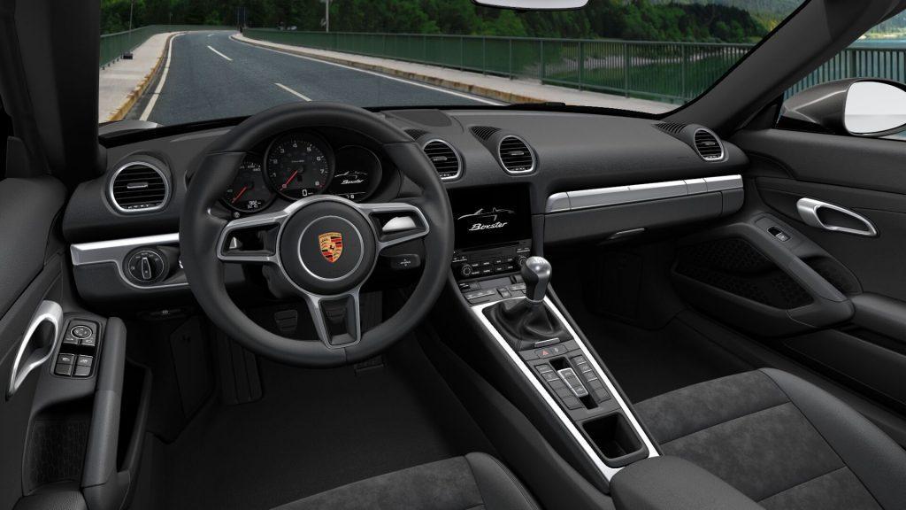 Interni della Porsche 718 Boxster