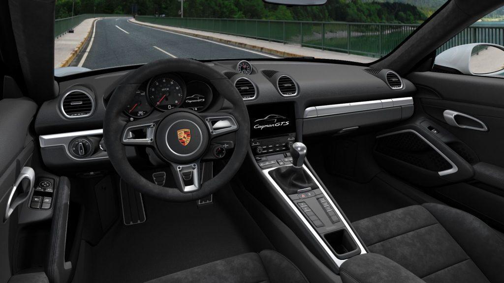 Interni della Porsche 718 Cayman GTS