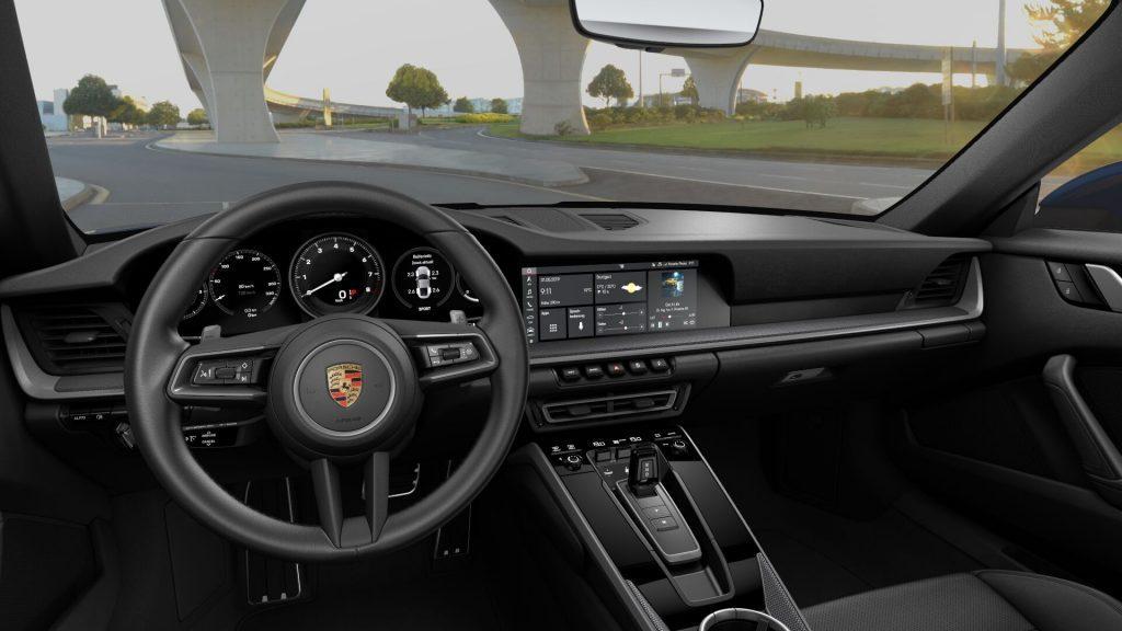 Interni della Porsche 911 Carrera 4s