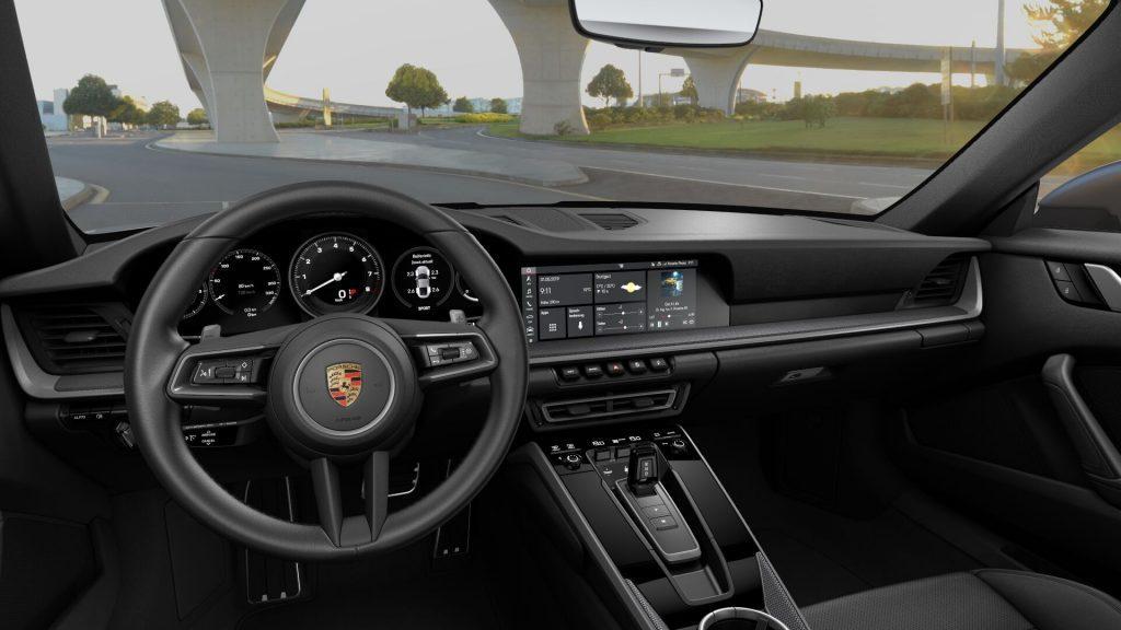 Interni della Porsche 911 Carrera S