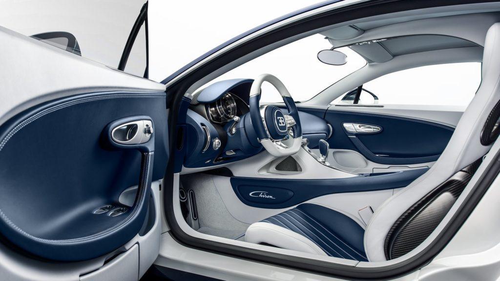 Interni della Bugatti Chiron