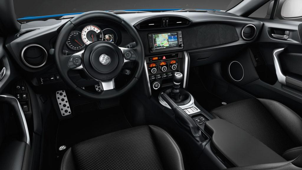 Interni della Toyota GT86