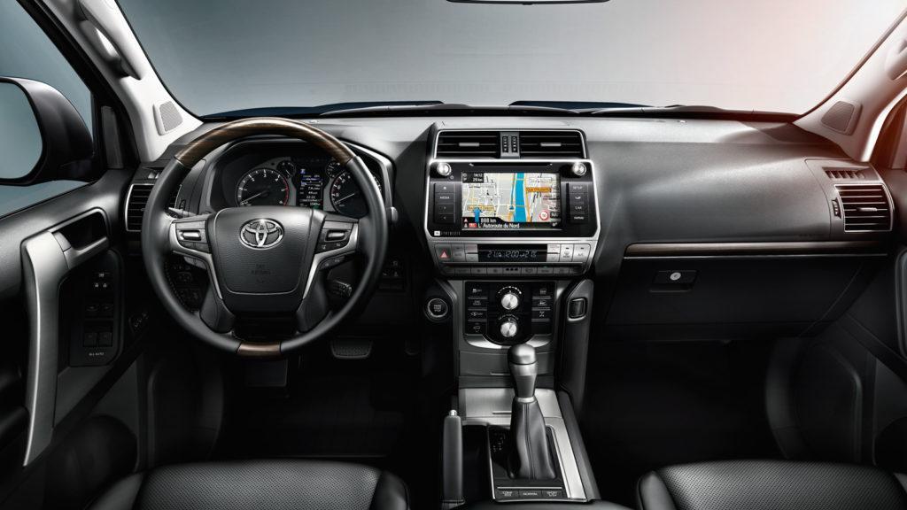 Interni della Toyota Land Cruiser