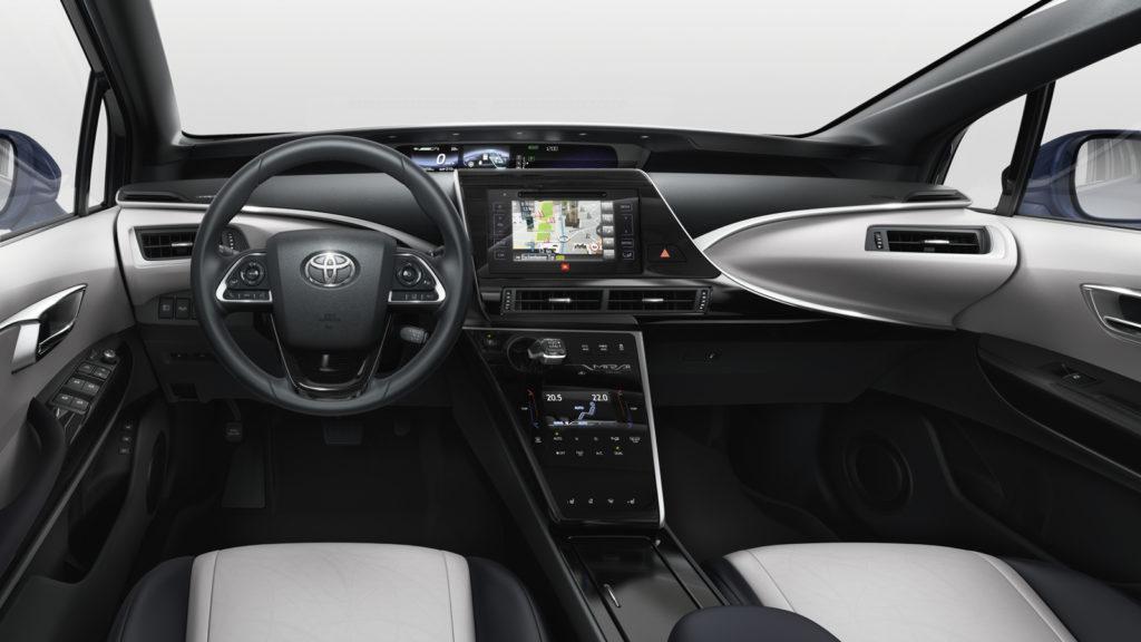 Interni della Toyota Mirai