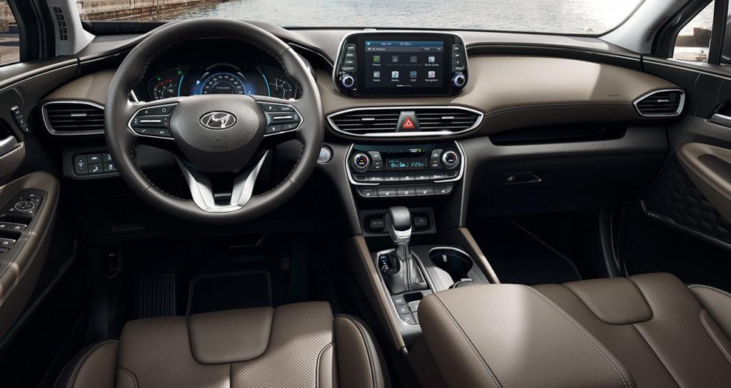 Interni della Hyundai Santa Fe